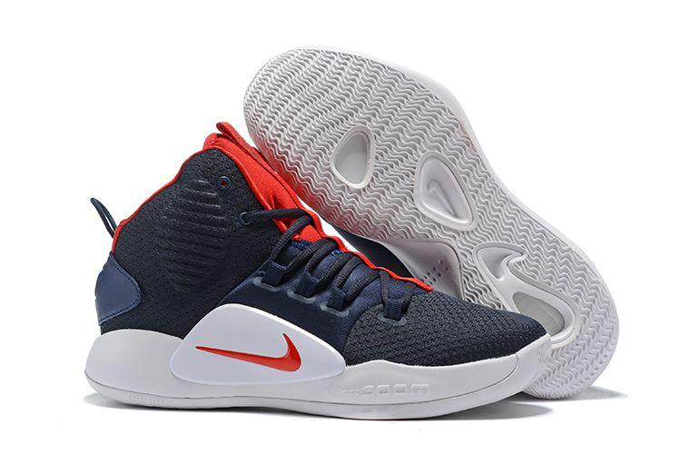 "38b4427c 2018 Nike Hyperdunk X ""USA"" Navy Blue/Red-White AO7893-400 – With Sneaker"