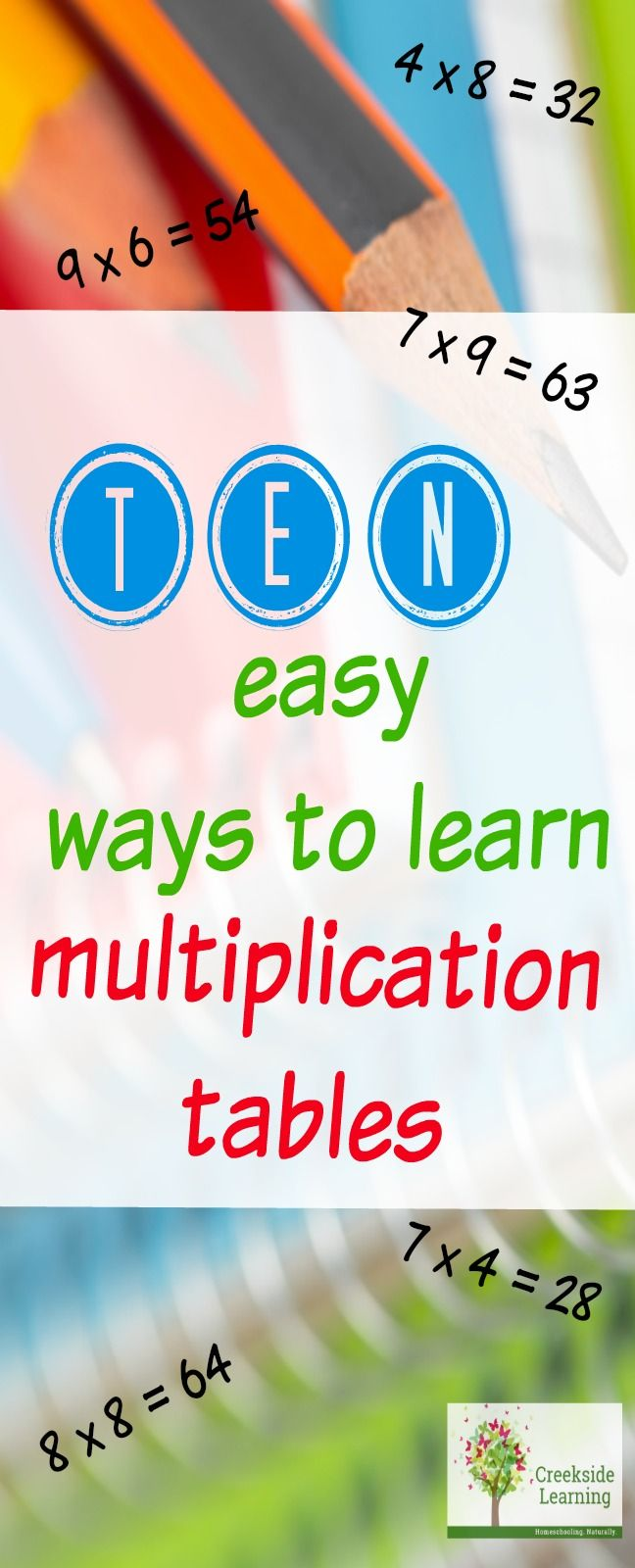 How To Learn Multiplication Tables Quickly 10 Ideas Kid Blogger