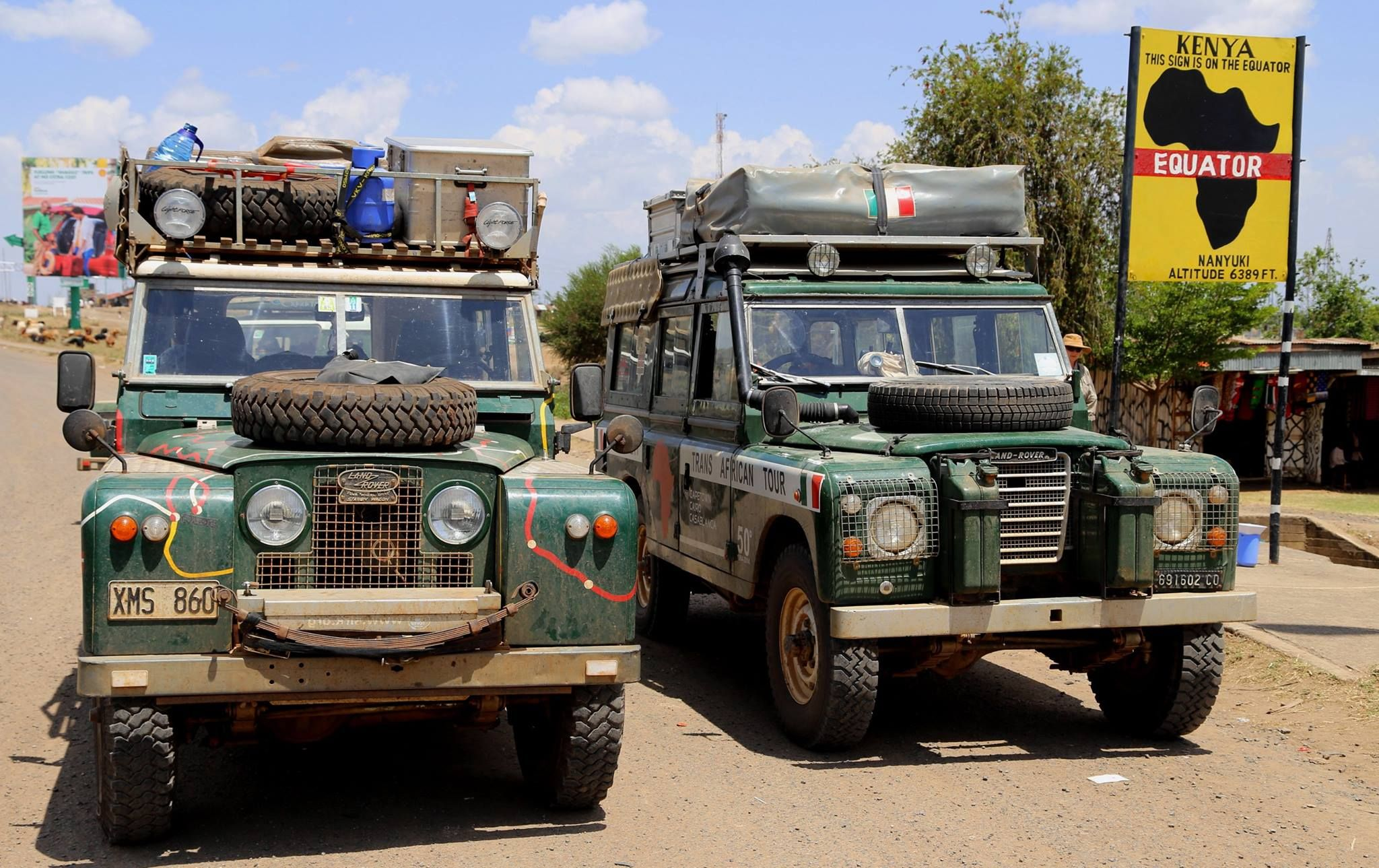 Happy Rovering In Kenya With Aziza 7 Land Rover 109 Iii Series