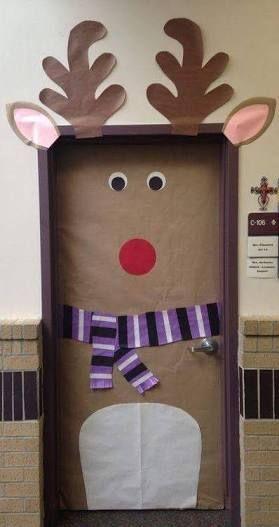 Resultado de imagen para decoracion puertas navide as for Puertas decoradas navidad material reciclable