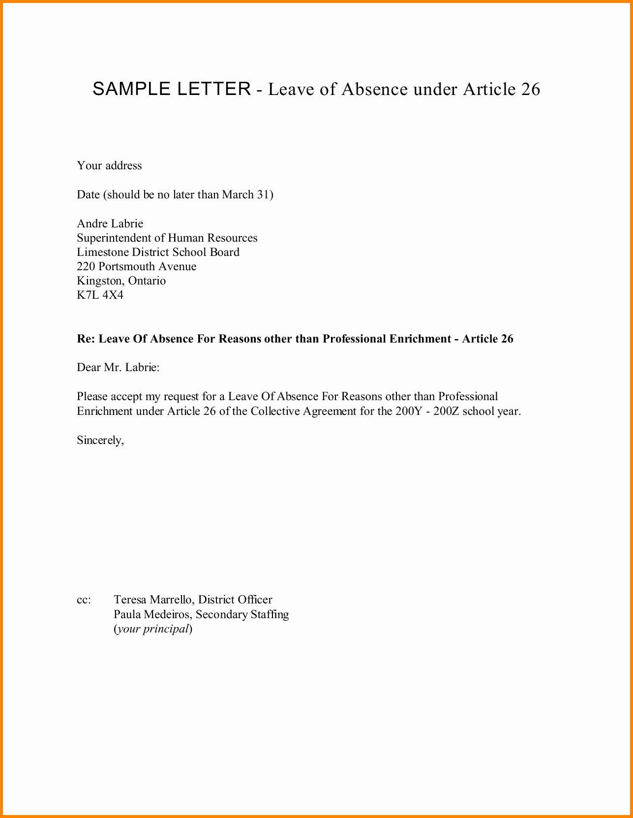40 Absent Letter For School Absent Letter Letter Sample Lettering