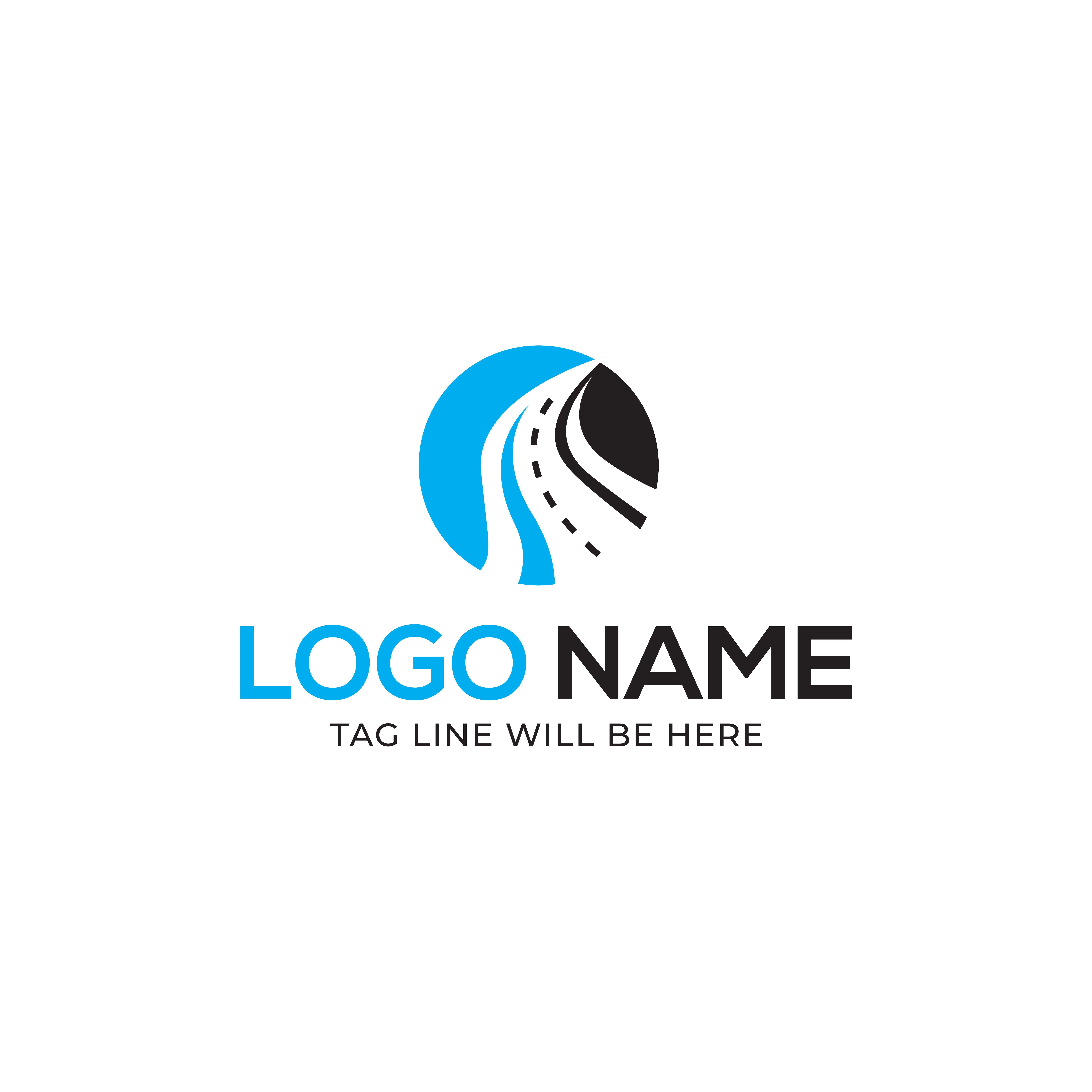 Road Logo Design Vector Illustration logo_design,