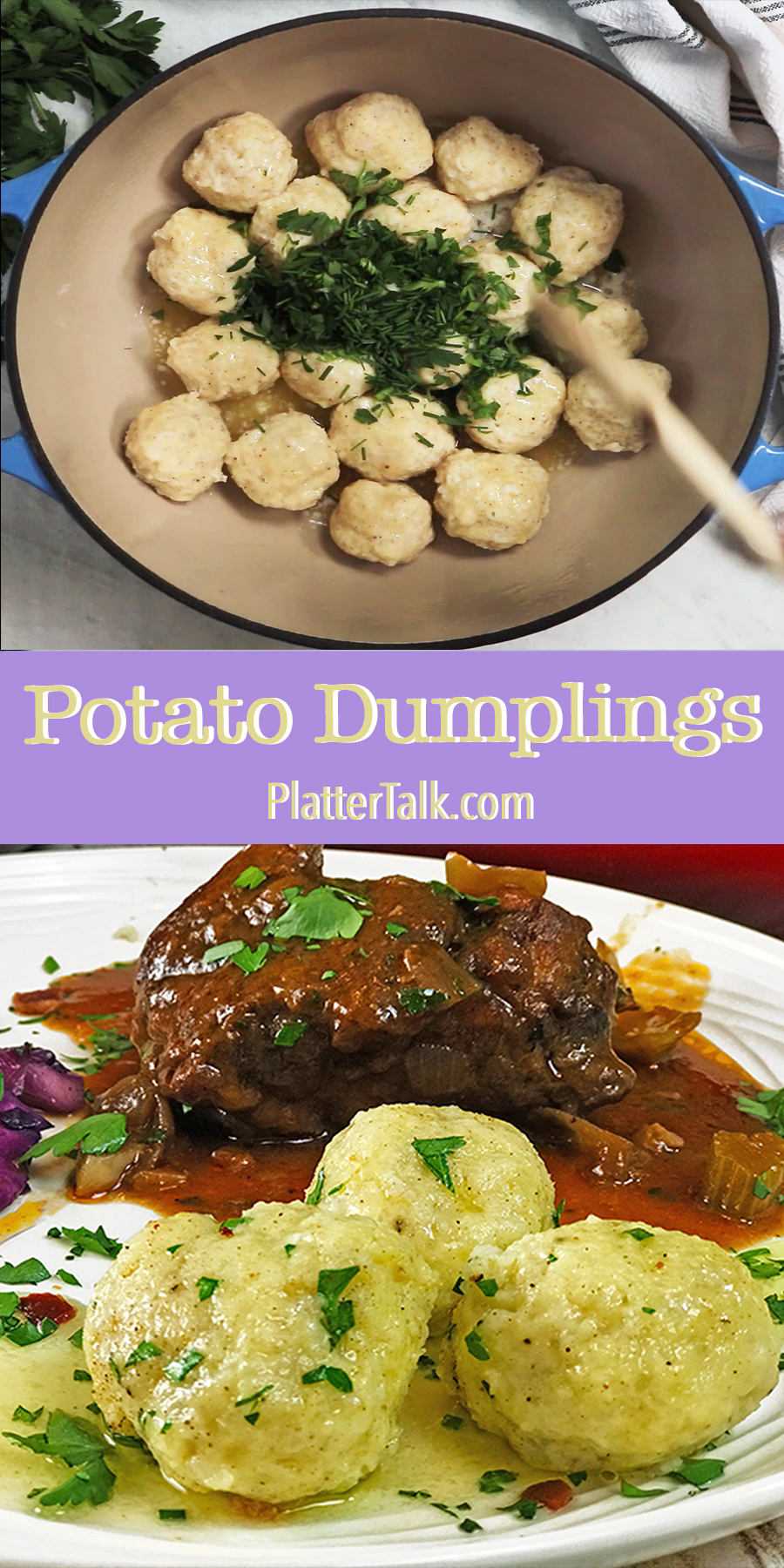 Potato Dumplings Kartoffelknodel Recipe Video In 2020 European Dishes German Food Authentic Potato Dumplings