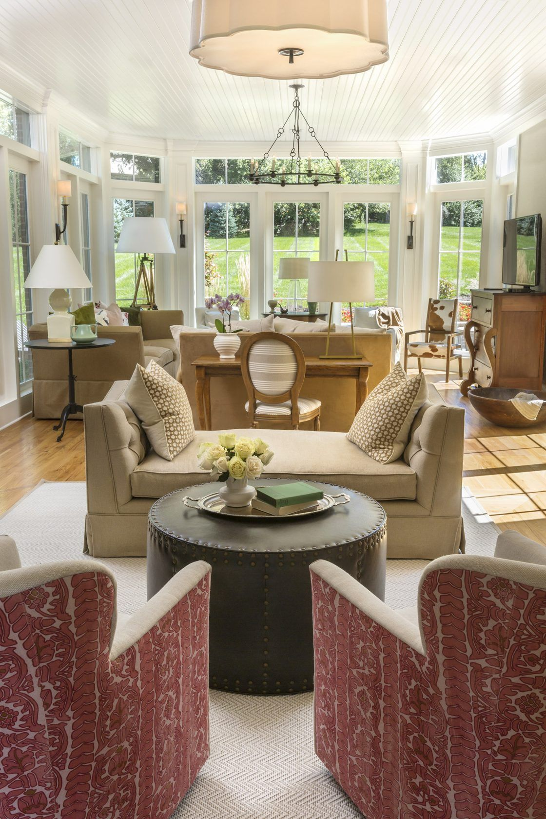 Traditional Living Room Interior Design: New Traditional Open Family Room By R. Cartwright Design