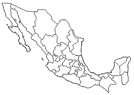 Resultado de imagen para mapa de la republica mexicana