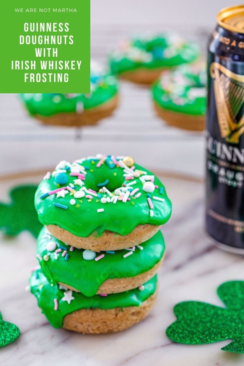 Photo of Guinness Doughnuts with Irish Whiskey Frosting