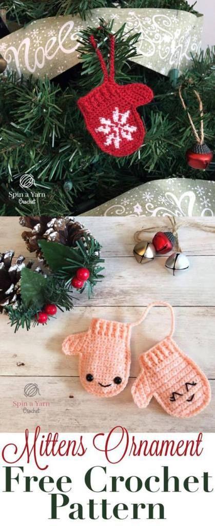 Mittens Ornament Free Crochet Pattern | Weihnachten | Pinterest ...
