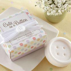 Cute as a button party favor - button shaped soap