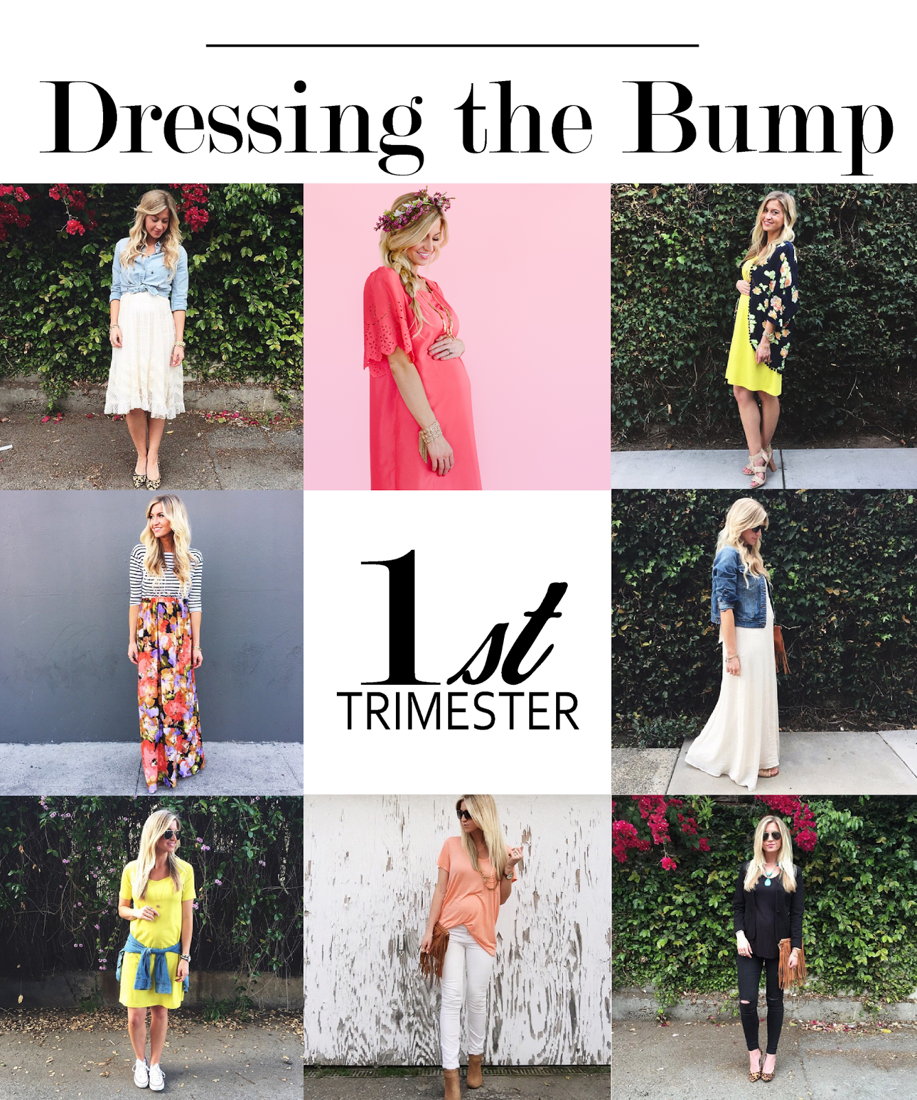 bc1779f791895 Dressing the Bump Series: What to wear during the first trimester of  pregnancy.