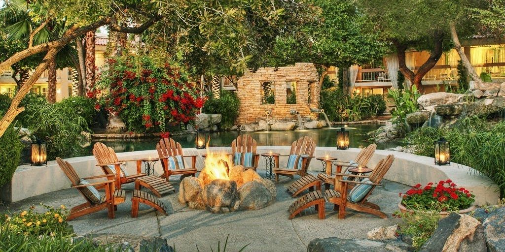The Scott Resort & Spa Fire pit landscaping, Rustic fire