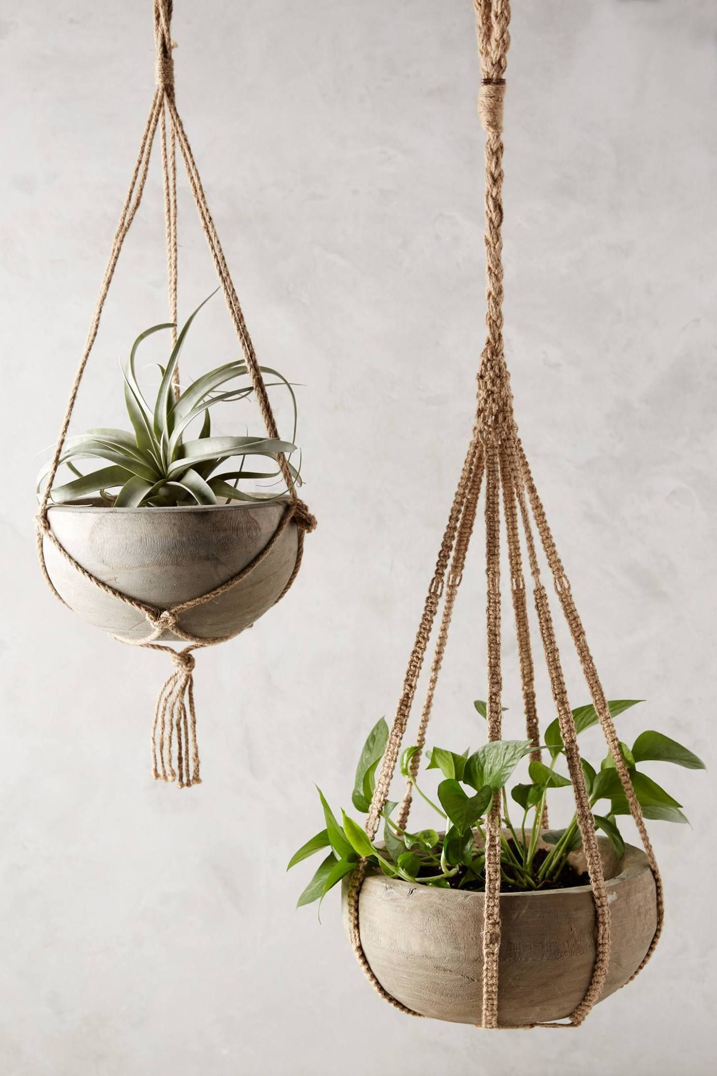 Kiri Wood Hanging Planter anthropologie anthrofave Anthropologieu0027s