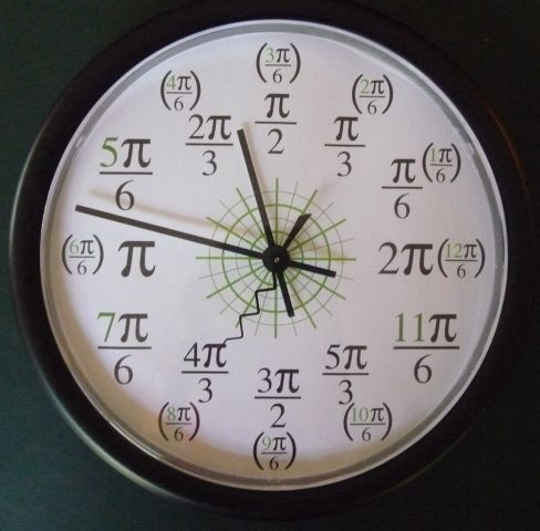 Radian Clock I Had A Math Teacher Who Used One Of These
