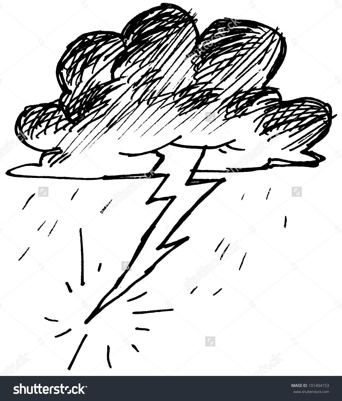 Drawing Lines Between Divs : Stock photo thunder cloud and lightning  g