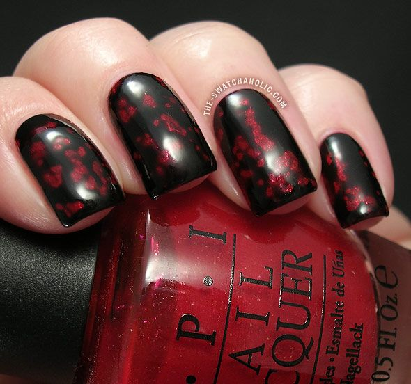 OPI Black Spotted swatch swatches OPI Ali's Big Break Alis Big Break swatch Spiderman Spider-Man Burlesque