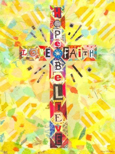 Faithful cross † | Art-Collage | Pinterest | Bible, Powerful words ...