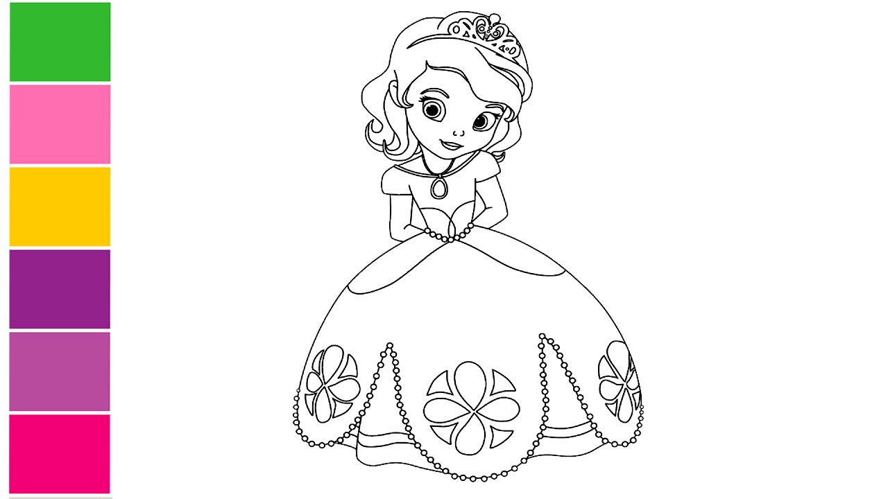 How To Draw Princess How To Draw A Cute Princess Drawing Princess For Children Princess Drawings Simple Art Art Tutorials