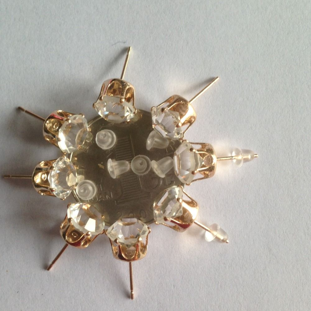 AAA + Einfache Neue Design Strass Kristall Gold farbe Ohrstecker ...