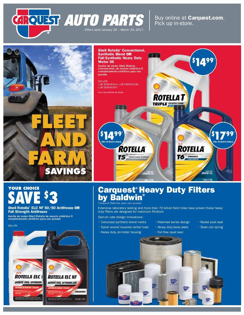 Carquest auto parts january 26 march 2017 do you know what s in and what s hot in the carquest parts for this week latest best carquest auto part deals