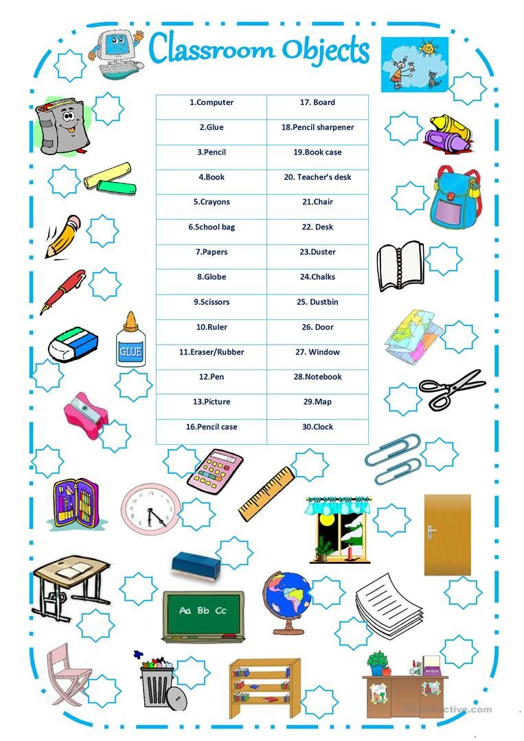 Classroom Objects Worksheet Free Esl Printable Worksheets Made By Teachers English Classroom Classroom English Worksheets For Kids Free education worksheets printable