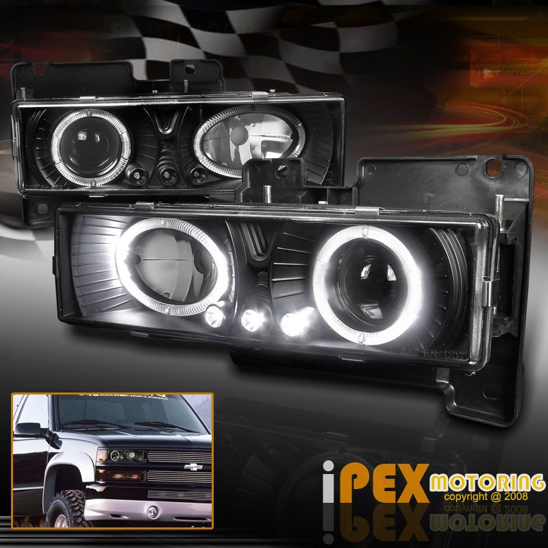 Projector Headlights Produce More Focused Light Beam With Less Scatter Loss Which Makes It Safer To Drive At Darkness Gmc Trucks Chevy Trucks Accessories Chevy