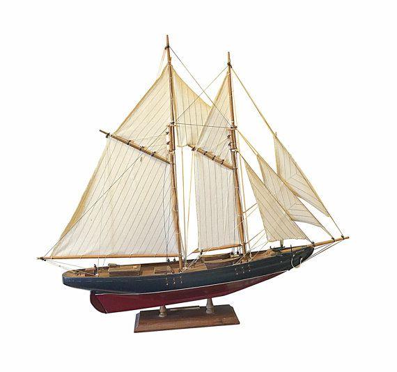 Racing Ship Model Vintage Fishing Boat Display by Nachokitty