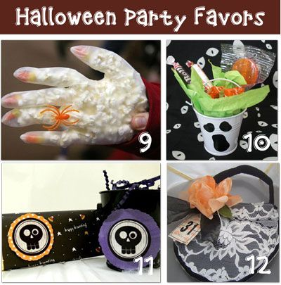 12 Halloween Party Favors Handmade Halloween parties, Favors and - halloween party decoration ideas