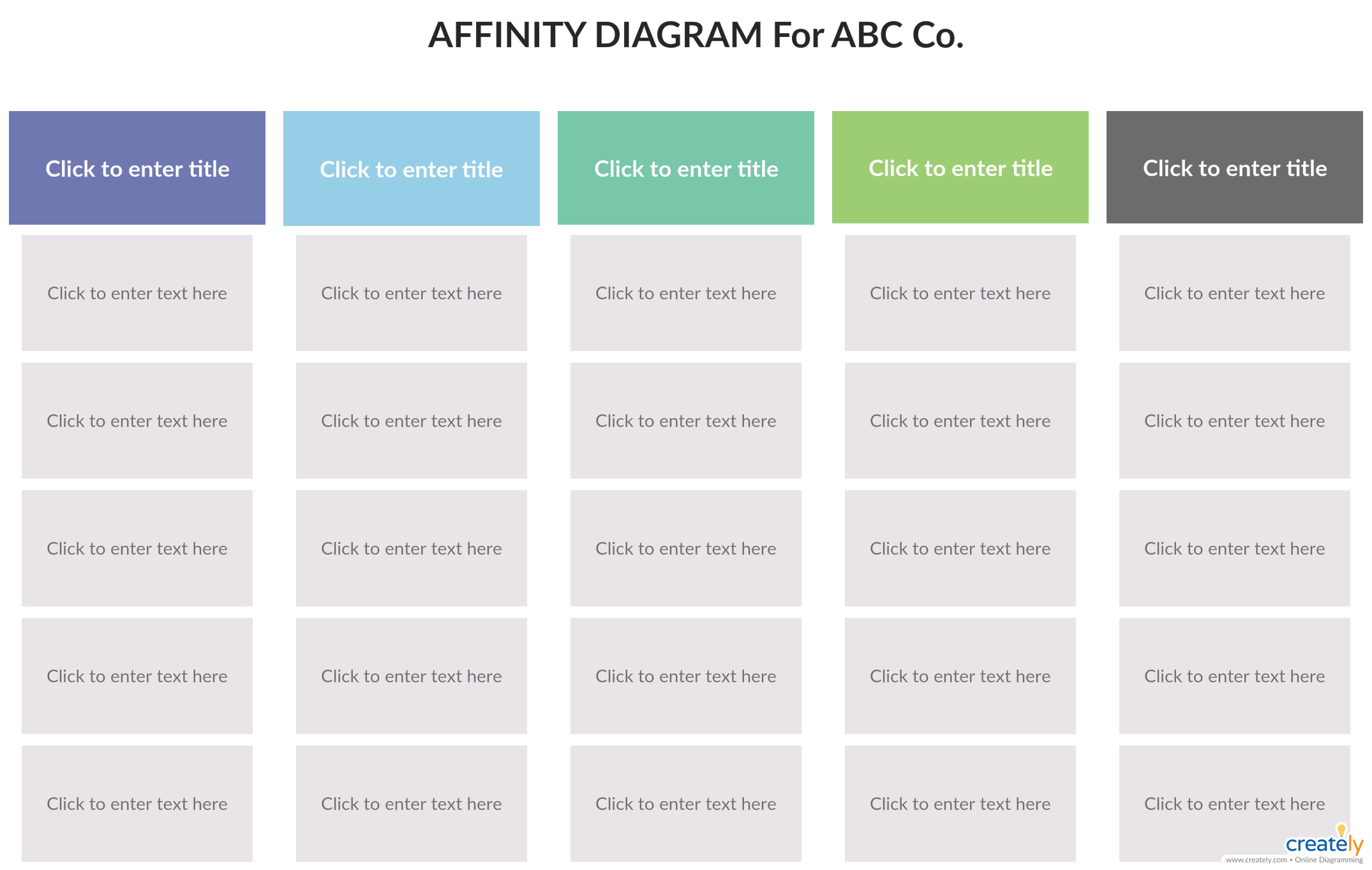 Affinity Diagram Template You Can Edit This Template And Create Your Own Diagram Creately Diagrams Can Be Exported An Diagram Templates Process Flow Diagram
