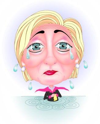 Resultado de imagem para cartoon hillary cry