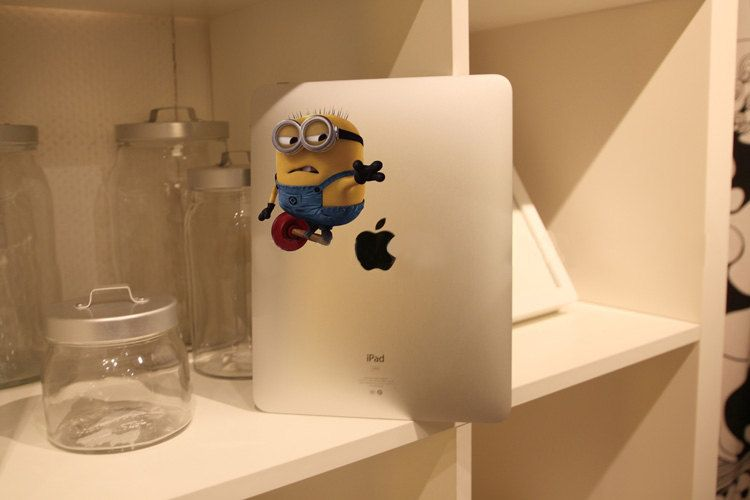 Despicable Me  - iPad Decal iPad Stickers iPad Decals Apple Decal for Apple iPad1 / iPad2 / iPad3. $8.50, via Etsy.