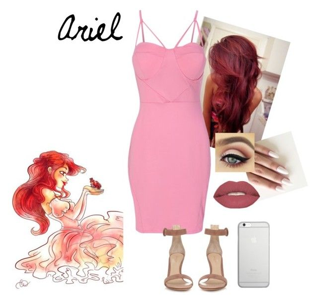 """""""Ariel"""" by savagesabisch on Polyvore featuring beauty, WithChic, Gianvito Rossi, Smashbox and Native Union"""
