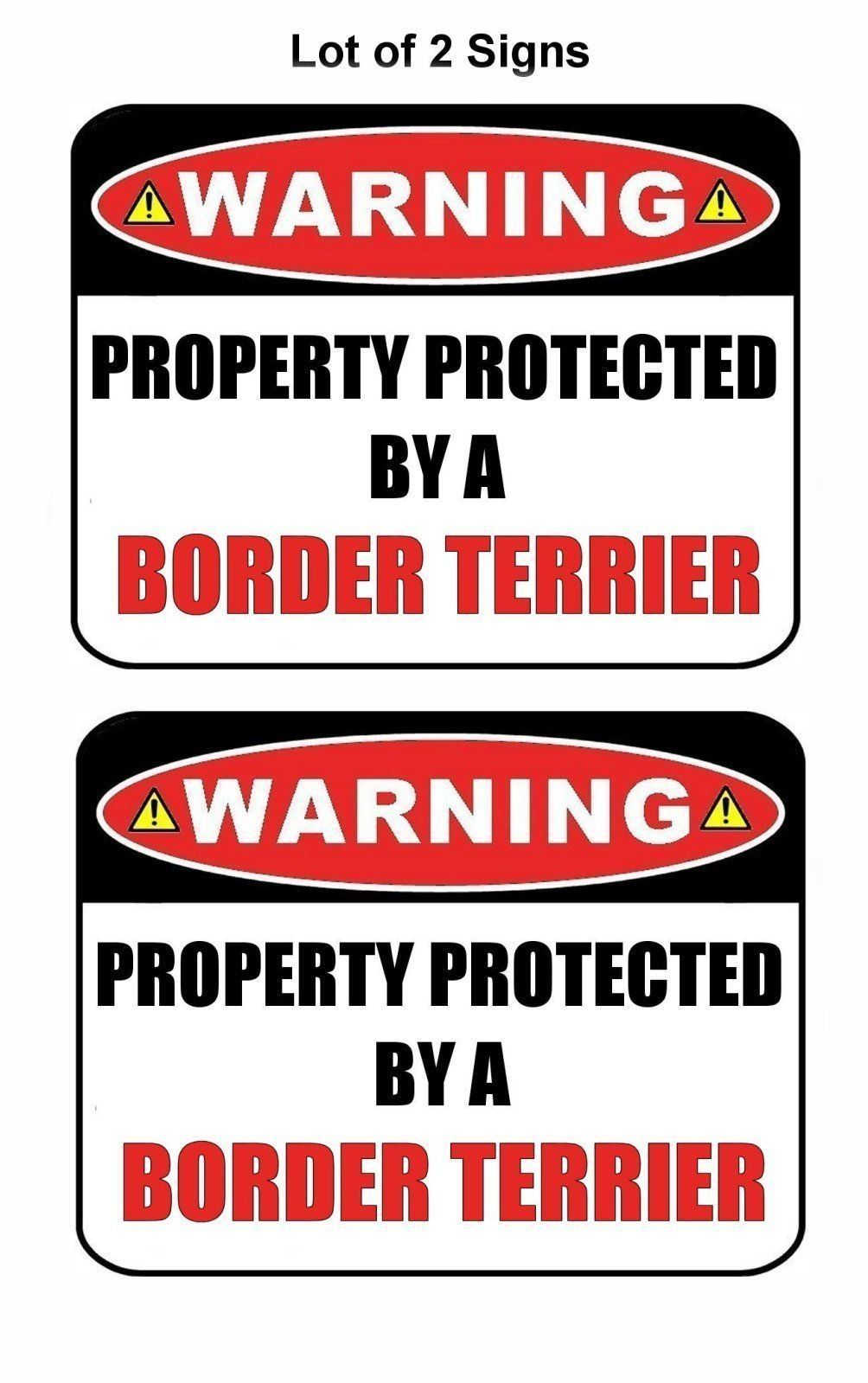 SILHOUETTE Laminated Dog Sign Warning Property Protected by a Shih Tzu