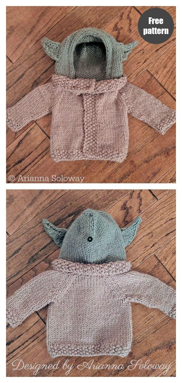 Photo of Baby Yoda Sweater Free Strickmuster, #Baby #Free #Knitting #Pattern #Sweater #Yoda