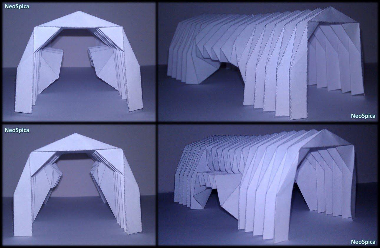 Paper Barrel Vault Origami Tutorial