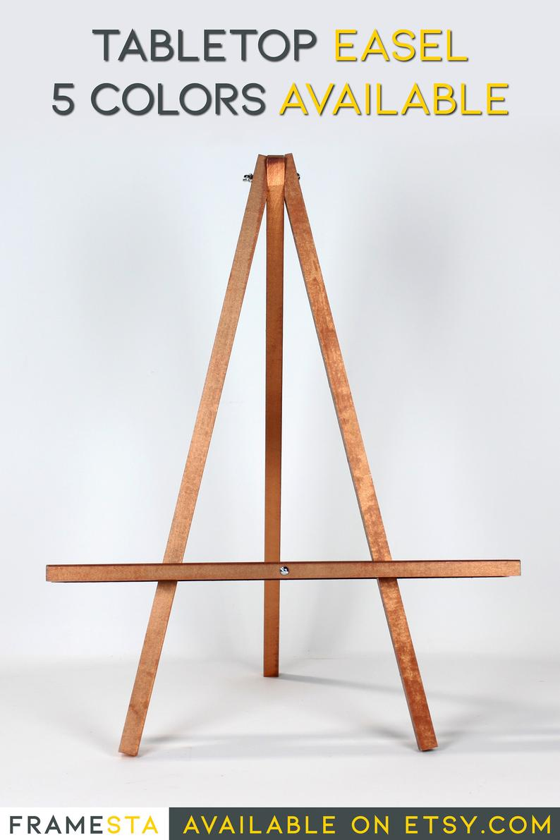 Large 25 Tabletop Easel Minimalist Wood Table Top Easel White Easel Gold Easel Silver Easel Rose Gold Easel Tabletop Easel Table Top Wood Table Top