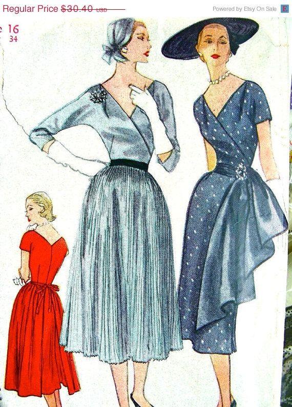 Vintage 1953 Simplicity Sewing Pattern 4204 - AMAZING DRESS & SASH ...