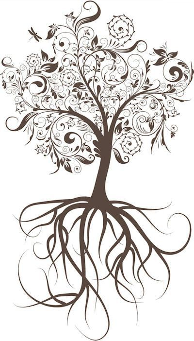 Love The Details Family Tree Tattoo Tree Tattoo Roots Drawing