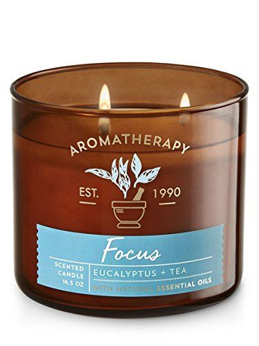 'Bath & Body Works 3 Wick Candle – Aromatherapy Scented Candle – Eucalyptus & Tea Focus | All4Hiking.com