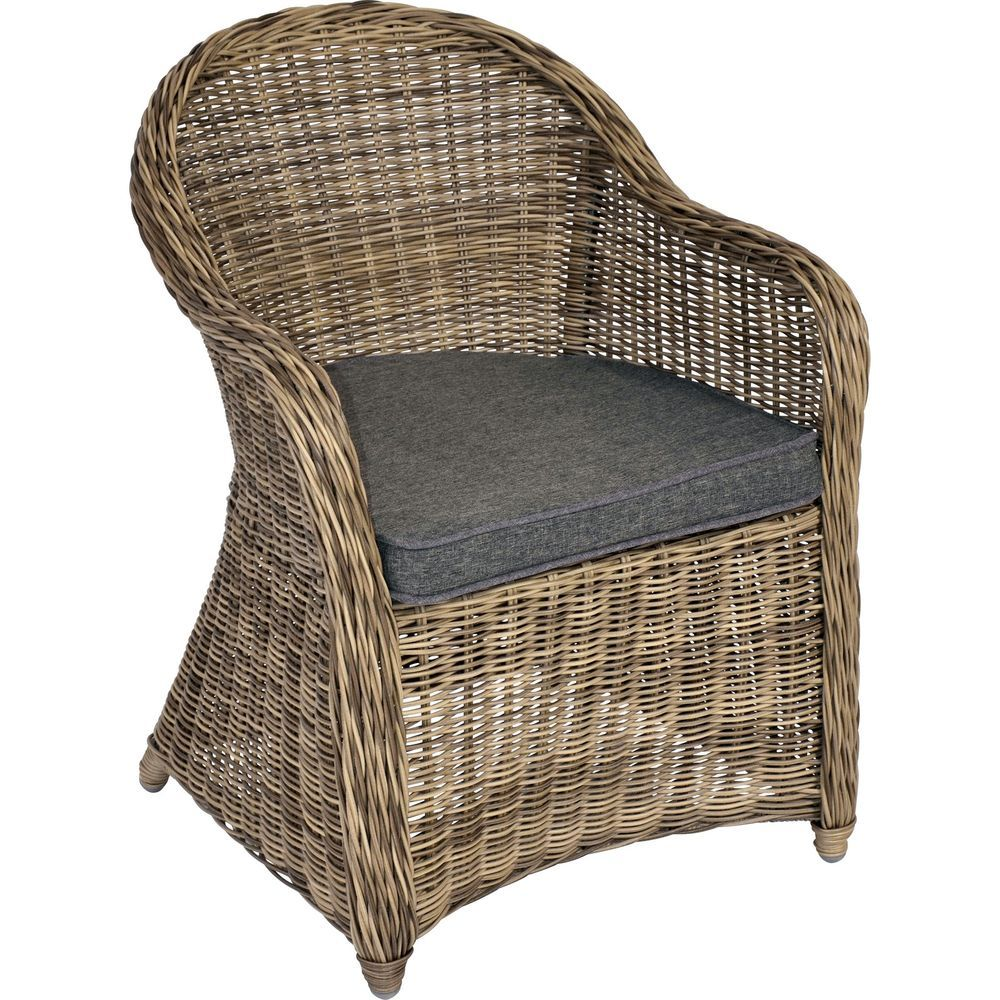 xana m bel polyrattan stuhl sessel inkl kissen gartenstuhl gartenm bel in garten terrasse. Black Bedroom Furniture Sets. Home Design Ideas
