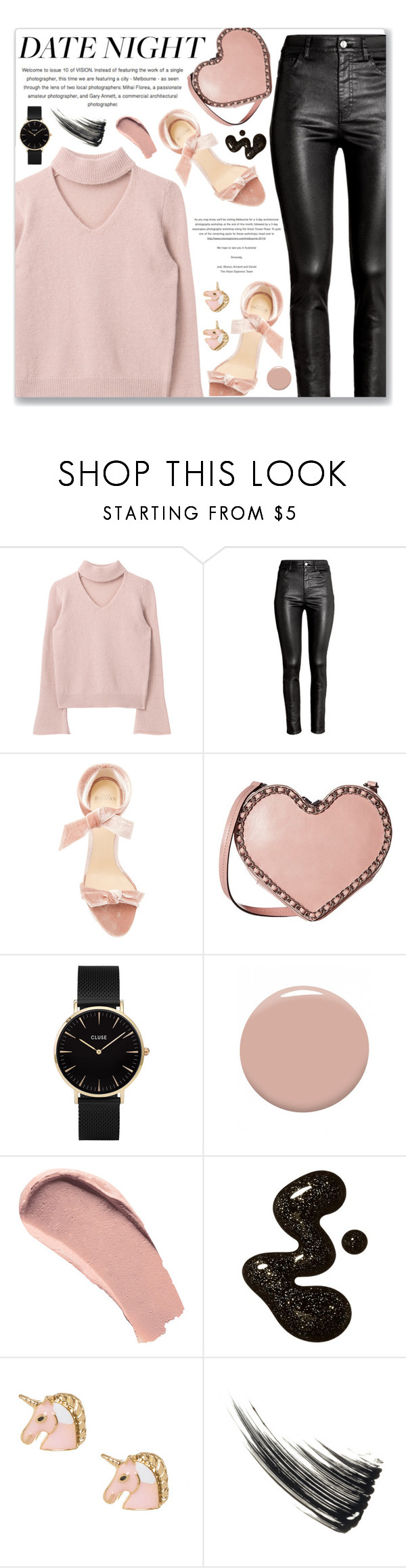 """Date Night"" by myduza-and-koteczka on Polyvore featuring moda, H&M, Alexandre Birman, Rebecca Minkoff, CLUSE, Christian Louboutin i Burberry"