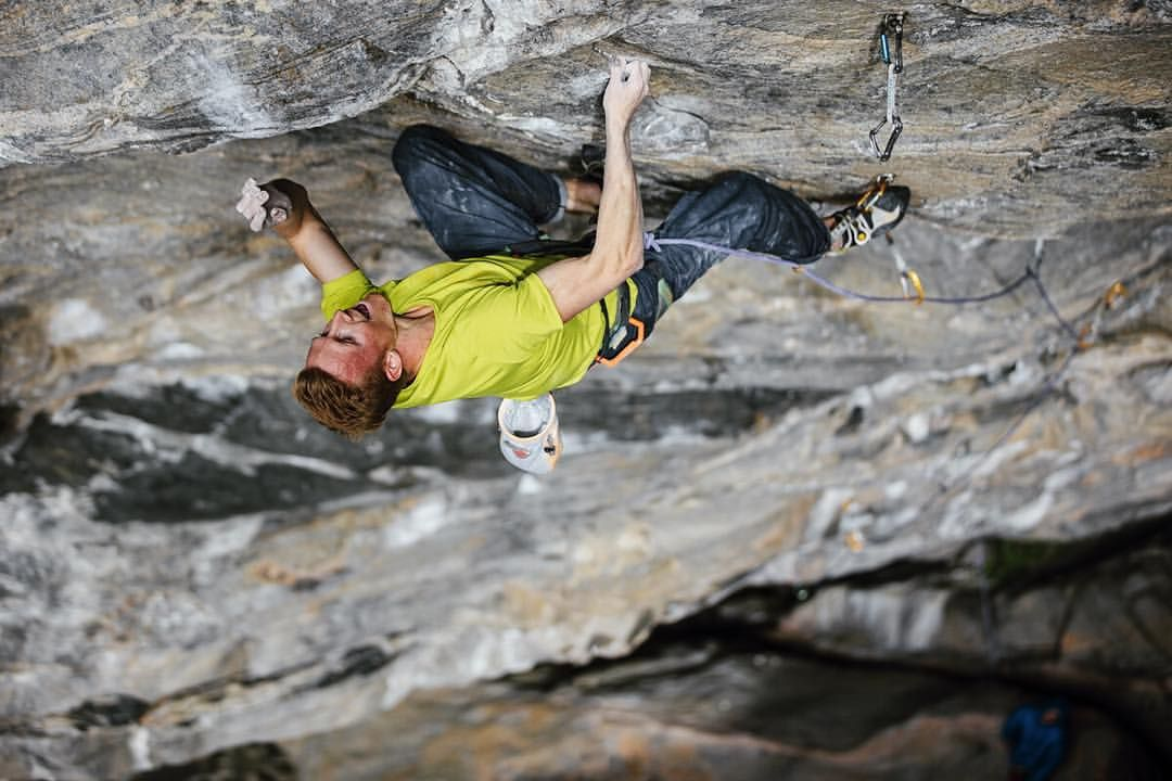 """""""THORS HAMMER""""! Got the 3rd ascent of this amazing 9a+ in the Flatanger cave today! 60m of super steep climbing with some big rests took quite some energy and after struggling with some wet holds I'm very excited I could top out this magestic line. ©"""