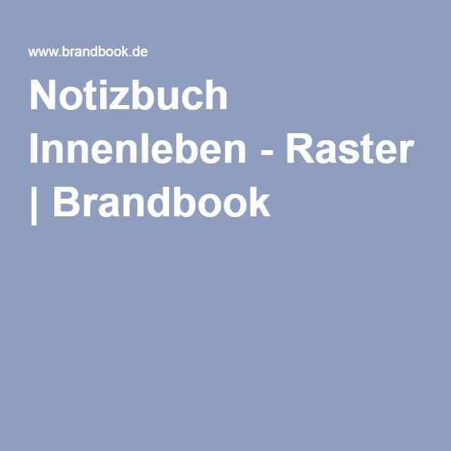 Notizbuch Innenleben - Raster | Brandbook als PDF zum Drucken