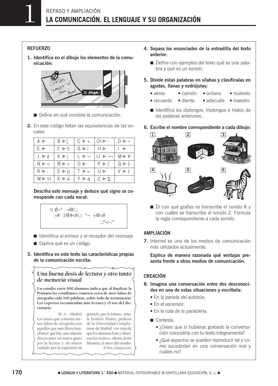 1 Eso Repaso Apuntes De Lengua Lectura Y Escritura Lengua Y Literatura
