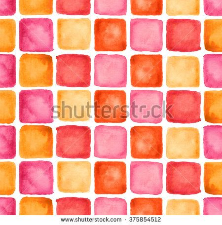 Watercolor Squares Pattern