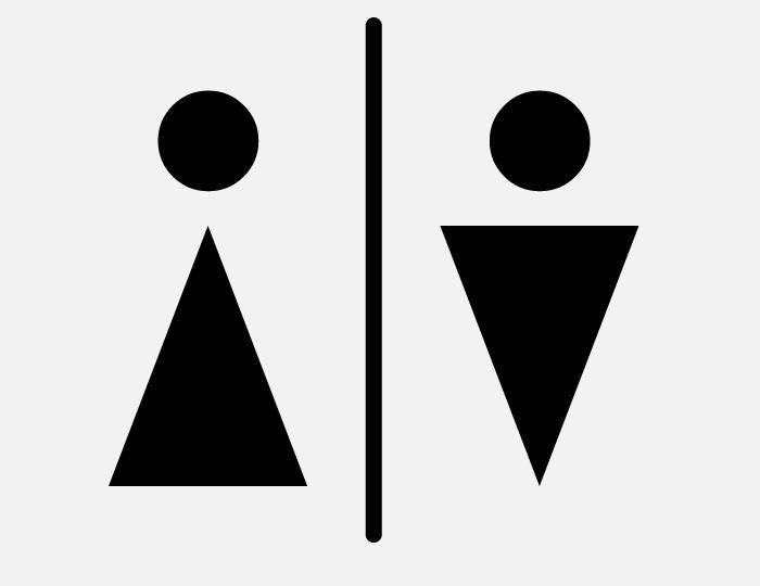 Male Female Placa De Banheiro Unisex Placas Para Banheiro