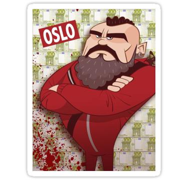 La Casa De Papel Oslo Stickers By Special T Shirts Redbubble Mens Graphic T Redbubble Graphic Tshirt