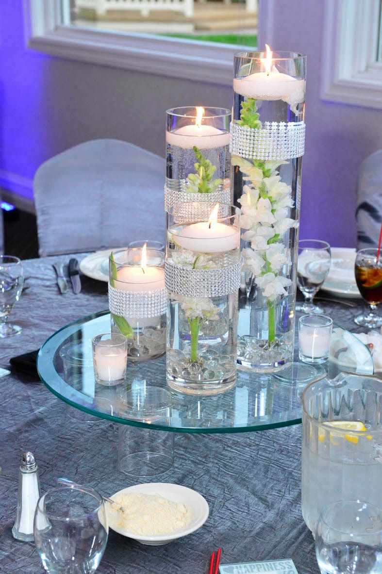 Engaging Wedding Ideas Cylinder Vase Floating Candle Centerpiece Design
