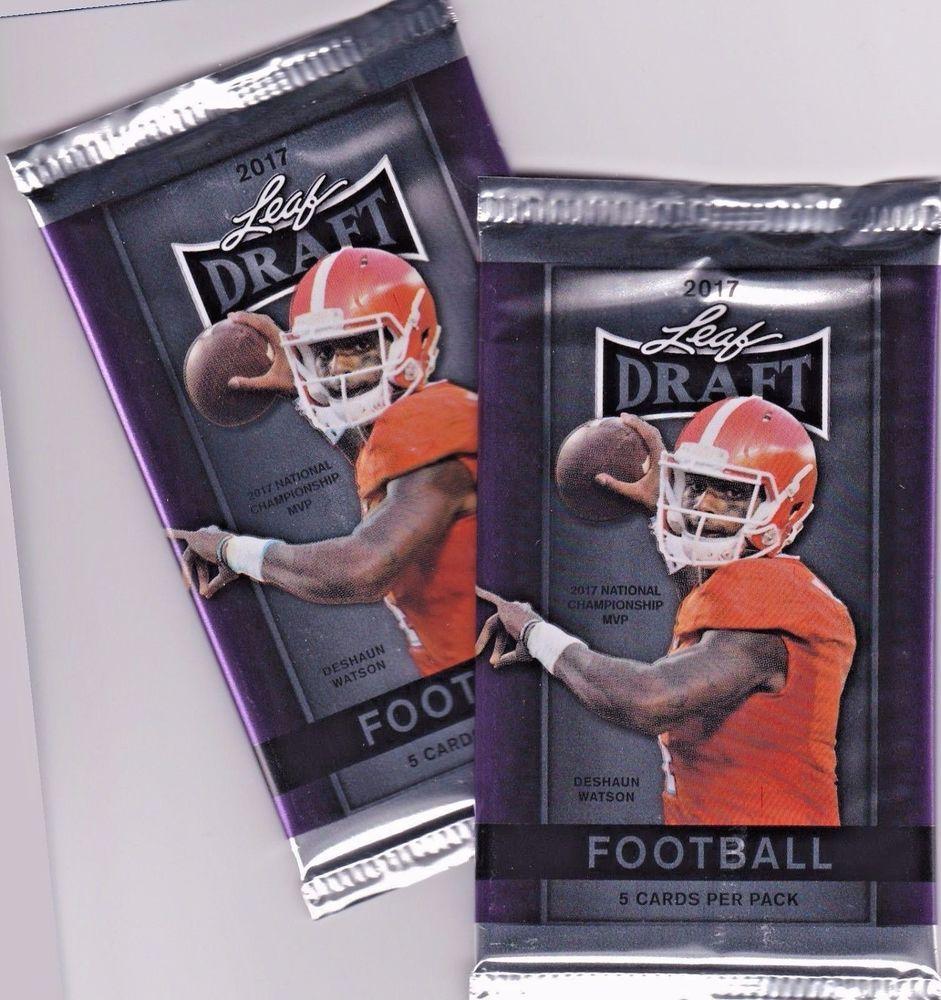 19eec5f43 2017 NFL Draft Football Trading Card Sealed 2 Pack Lot DeShaun Watson Cover   Various