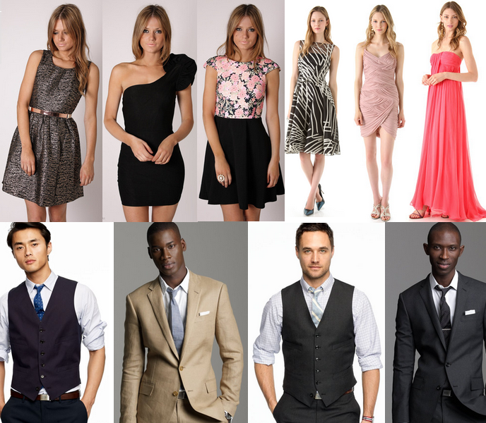 Dress code for cocktail evening wear