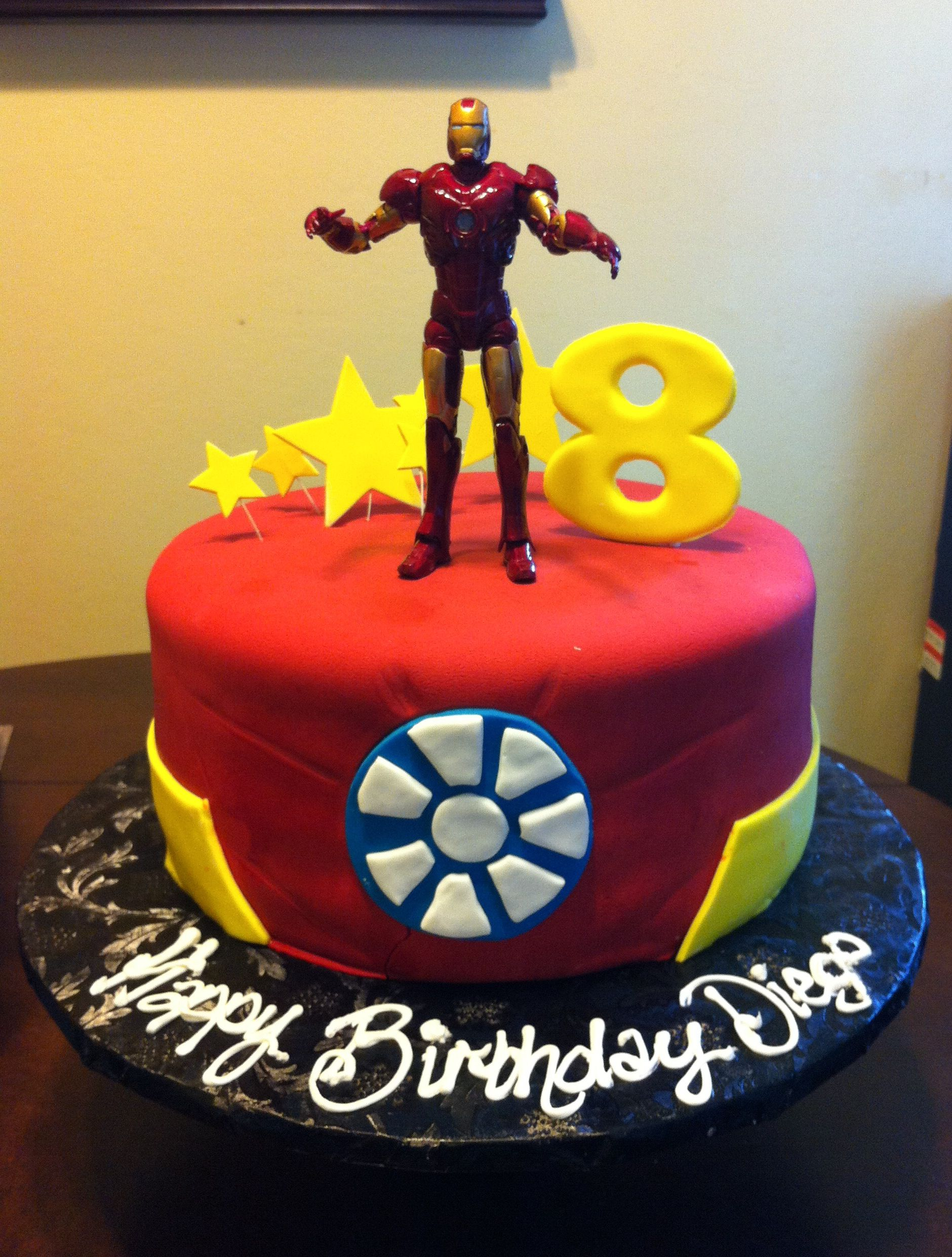 Super Iron Man Cake Ar With Images Avengers Themed Cakes Iron Man Birthday Cards Printable Trancafe Filternl