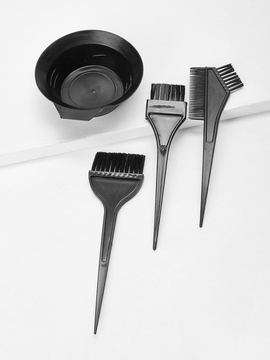 Hair Dye Bowl Brush 4pcs Shein Sheinside In 2020 Hair Dye Brush Dyed Hair Dyed Hair Care